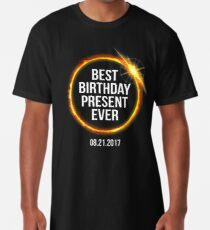 9214fa47 Funny 2017 Solar Eclipse Best Birthday Present Ever Long T-Shirt