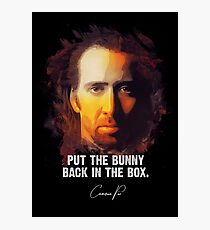 Bunny In The Box - Cameron Poe [CON AIR] Photographic Print