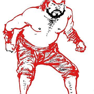 DPRK North Korean Wrestler - Red/Black by radpidgeons