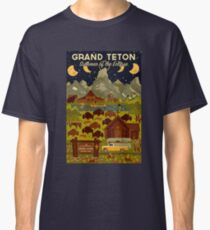 Grand Teton National Park - Summer of the Eclipse - Travel Decal Classic T-Shirt