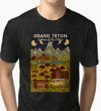 Grand Teton National Park - Summer of the Eclipse - Travel Decal Tri-blend T-Shirt