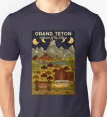 Grand Teton National Park - Summer of the Eclipse - Travel Decal Unisex T-Shirt