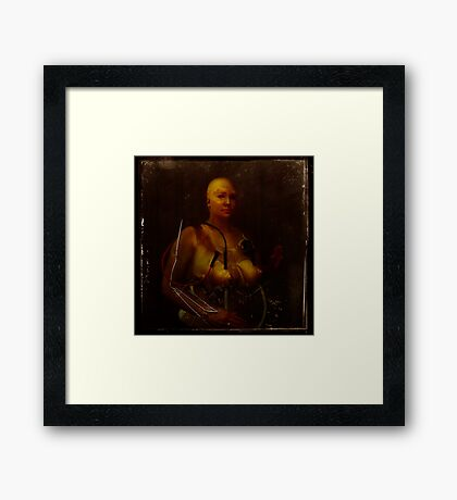 The perfect woman; test subject #1 Framed Print