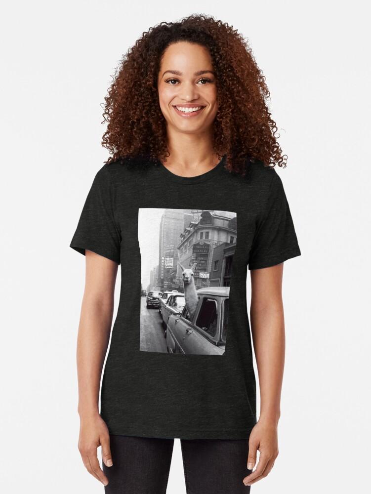 Alternative Ansicht von New York Lama Vintage T-Shirt