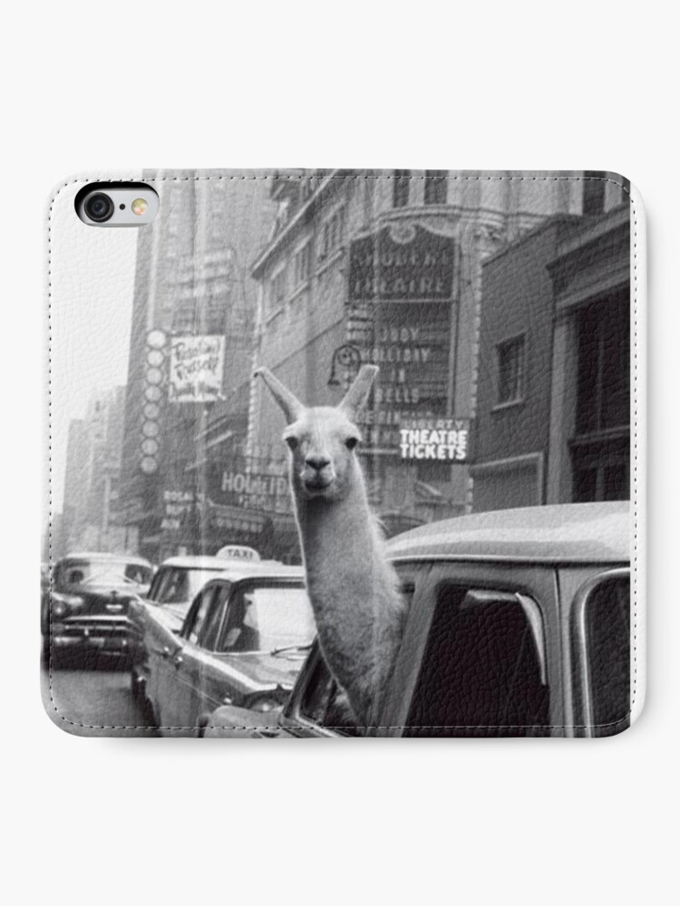 Alternate view of New York Llama iPhone Wallet