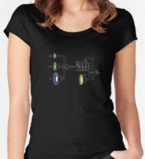 Retro Music Speaker System Schematic Women's Fitted Scoop T-Shirt