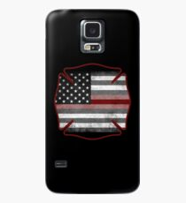 Thin Red Line - Fire Cross Case/Skin for Samsung Galaxy