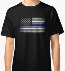 The Thin Blue Line - American Police Officer Classic T-Shirt