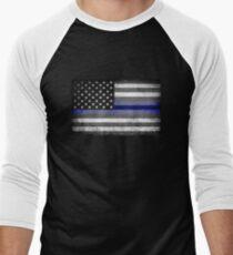 The Thin Blue Line - American Police Officer Men's Baseball ¾ T-Shirt