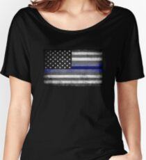 The Thin Blue Line - American Police Officer Women's Relaxed Fit T-Shirt