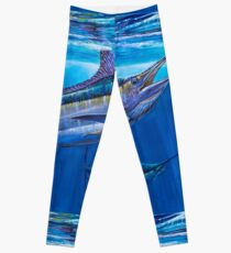 Blue Marlin Bite Leggings