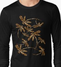 Golden Dragonfly Frenzy T-Shirt