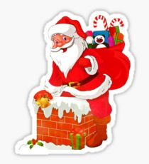 Christmas Santa Claus With Presents Sticker