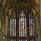 Prague St. Vitus Cathedral Stained-glass Windows by Elena Skvortsova