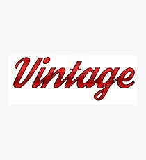 Vintage (Red) Photographic Print