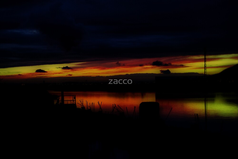 small harbour sunset port talbot by zacco