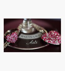 Sparkling Hearts and Wine Photographic Print