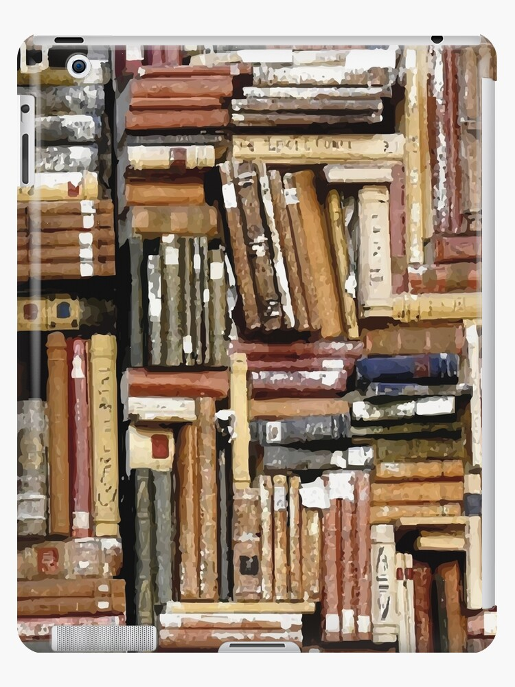 Messy Bookshelf IPad Cases Skins By Wormofabook
