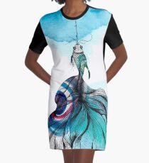 Fish fished Graphic T-Shirt Dress