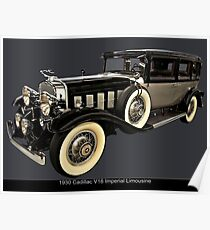 1930 Cadillac Imperial V16 Limousine Poster