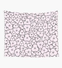 Popcorn Flower Field Pale Pink Wall Tapestry