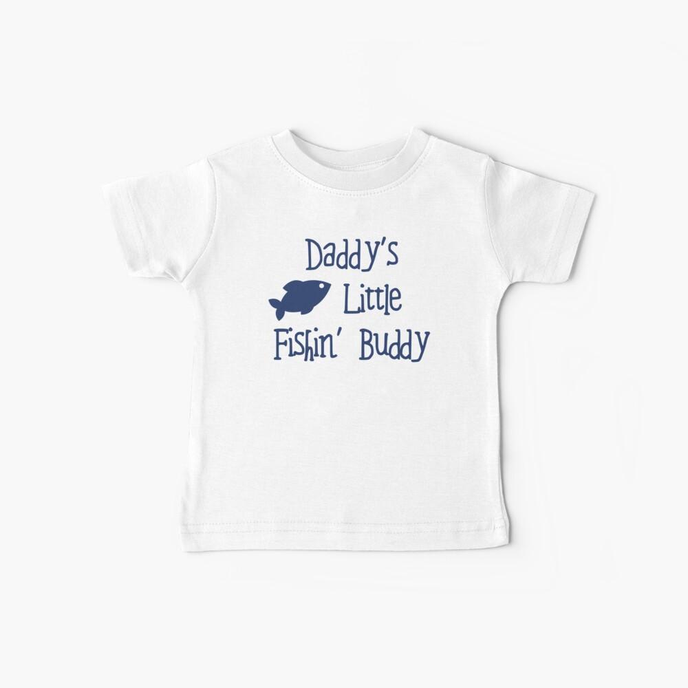 Little Fish Buddy de papá Camiseta para bebés