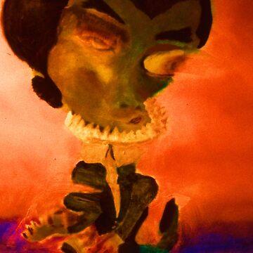 Devil Dancer, detail from Devil Dancers by OILSTUDIOS