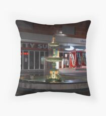 The Fountain in Rundle Mall Throw Pillow