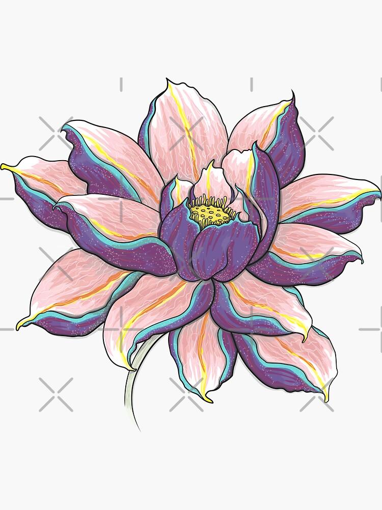 Violetter Lotus von runcatrun