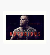 Lámina artística Conor McGregor el notorio