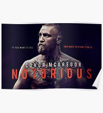 Conor McGregor the Notorious Poster