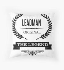 Leadman Throw Pillow