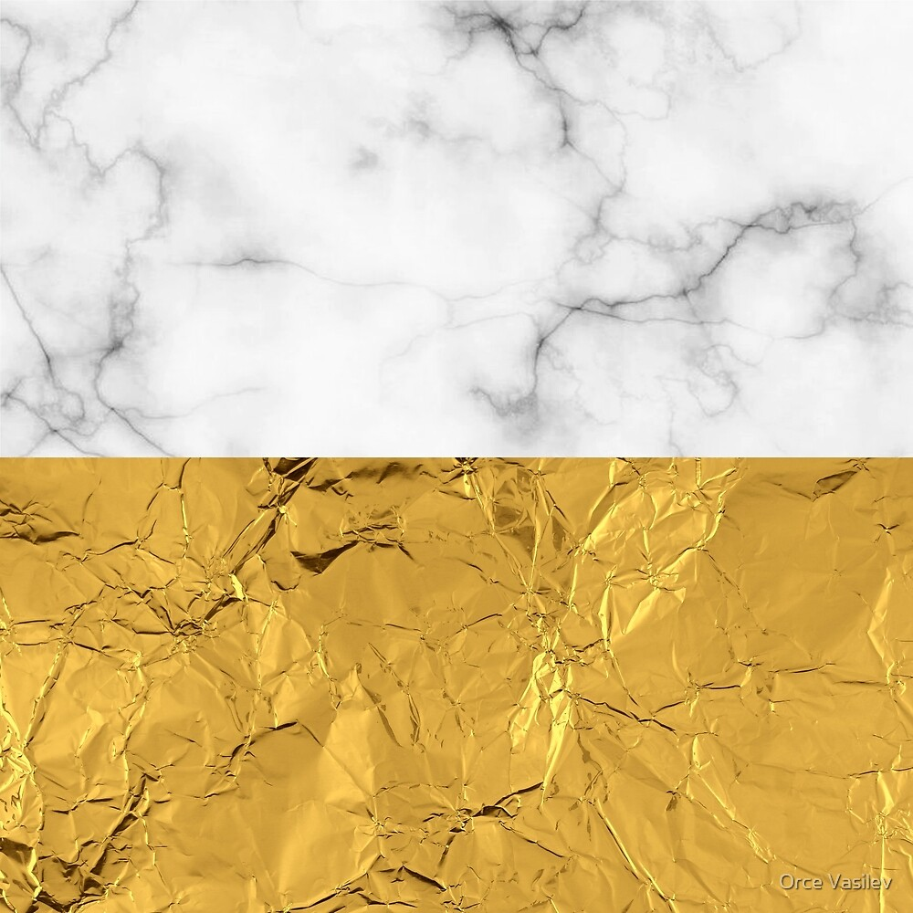Gold Foil and Marble by Orce Vasilev
