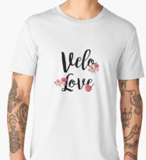 Bike Velo Love Flowers | Sports Men's Premium T-Shirt
