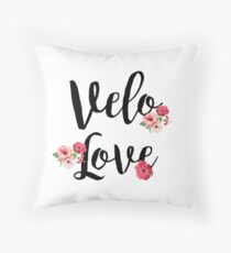 Bike Velo Love Flowers | Sports Throw Pillow