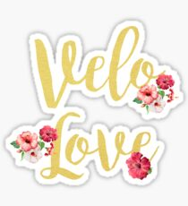 Bike Velo Love Gold | Sports Sticker