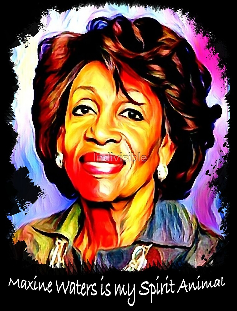 Maxine Waters is my Spirit Animal - colorful portrait by Indivisible