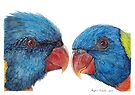 Rainbow Lorikeets by Meaghan Roberts