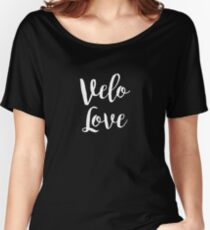 Bike Velo Love Handwritten | Sports Women's Relaxed Fit T-Shirt