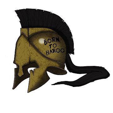 Spartan Helmet! Born to Haroo! by SuperDeano