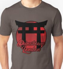 Chinatown London Red Night Landscape Silhouettes T-Shirt
