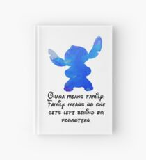 Ohana quote Inspired Silhouette Hardcover Journal