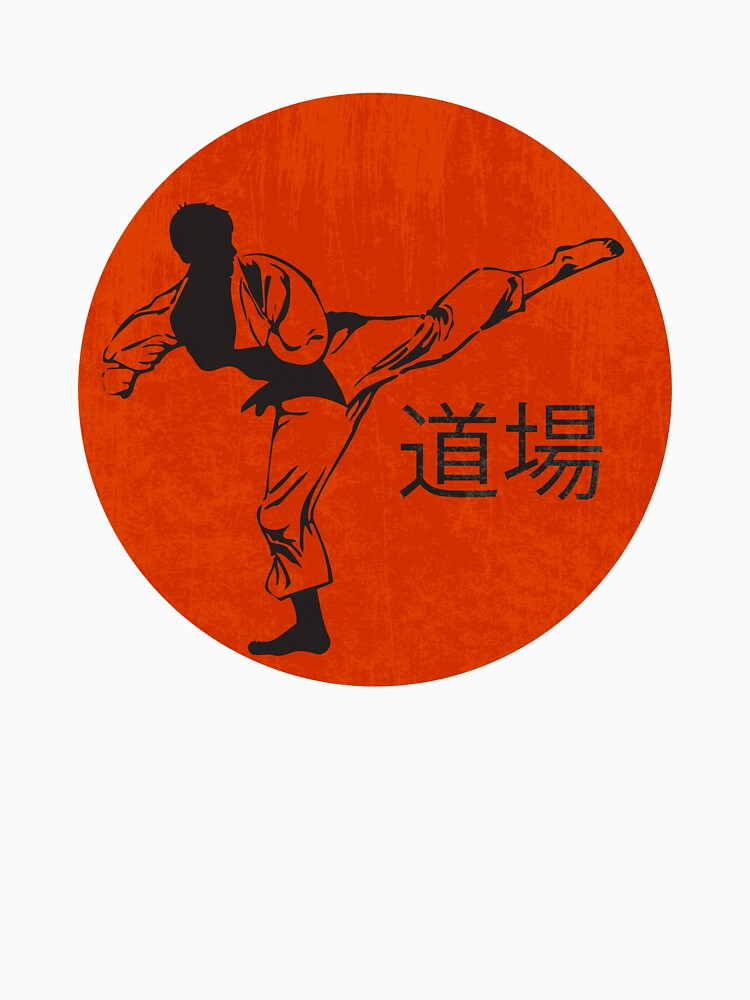 Silhouette Of A Karateka Doing Standing Side Kick by simbamerch