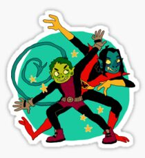 dudes with pointy teeth and ears Sticker