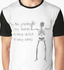 Skeleton with Orange Eyes Graphic T-Shirt