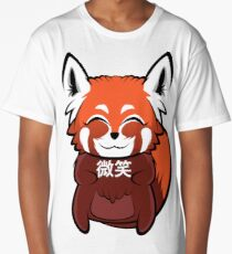 """微笑"" (Smile) Red Panda Long T-Shirt"