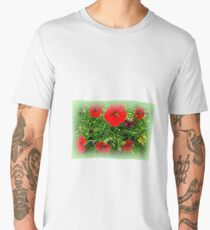 passage with red flowers Men's Premium T-Shirt