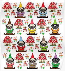 Gnome Pugs Poster