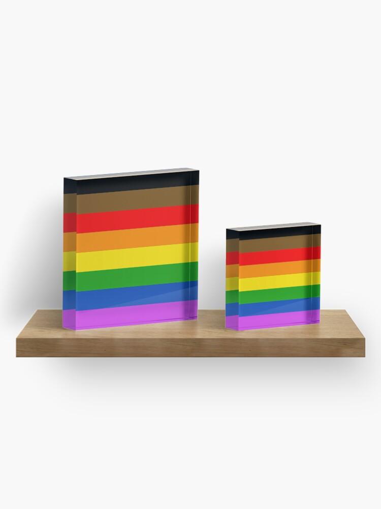 Alternative Ansicht von LGBT Stolz !! Acrylblock