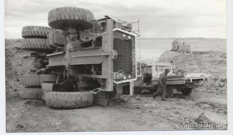 Terex over Peak Hil gold mine WA 1988 by AndrewBentley